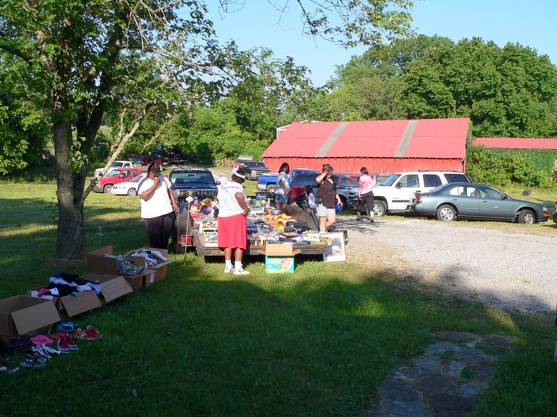 A local yard sale to sell off unwanted and old items no longer in use