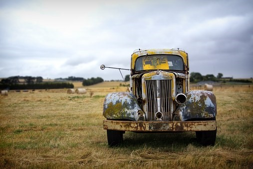 An old vehicle to be scrapped